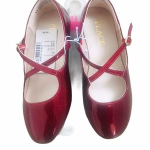CHILDREN'S PLACE | Ruby Red Flats with Straps NWT